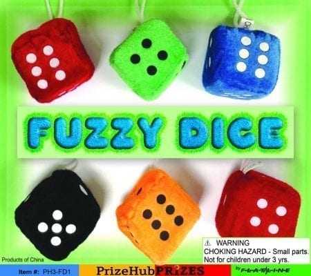 Fuzzy Dice display
