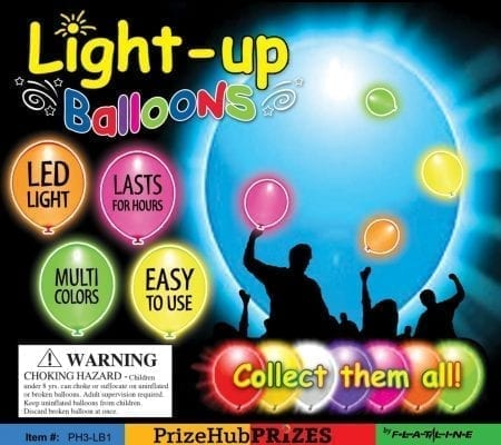 Lighted Balloon display card
