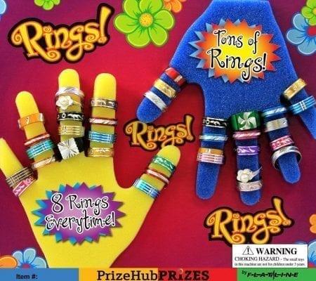 Rings, Rings, Rings display card