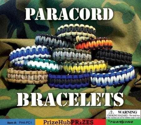 Paracord Bracelets display card